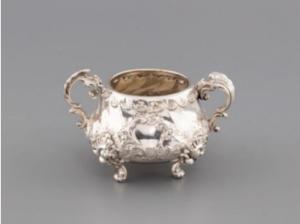 Drága kincsek Neorokokó cukortartó aukció exkluzív gazdag luxus prémium presztízs