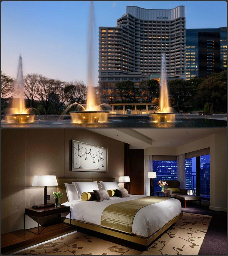 Palace hotel tokio csodás kilátással a császári kertre és felhőkarcolókra