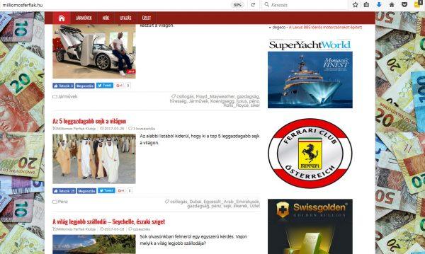 exkluzív egyedi internetes média banner megjelenés