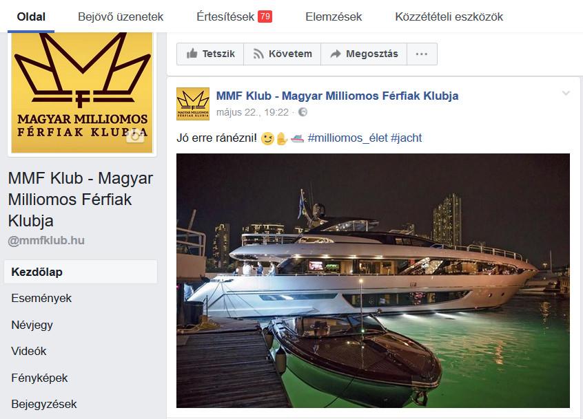exkluziv egyedi internetes media facebook megjelenes
