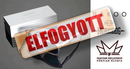 Herczeg Zoltán divat napszemüveg - limitált, exkluzív