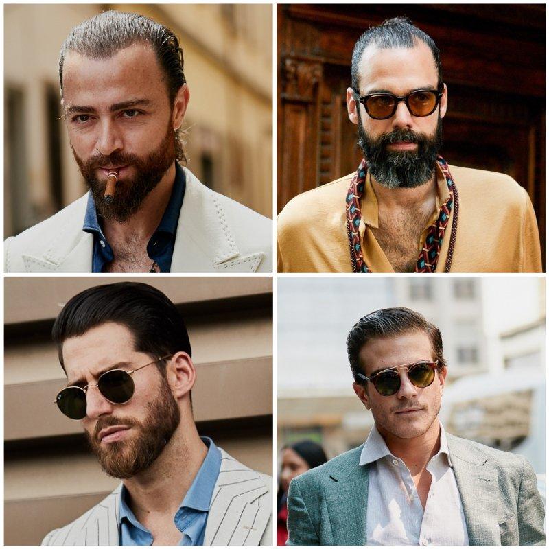Trendi férfi hajak 2020 - Hátrahúzás - igényes férfiak